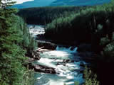 Photo of the Sukunka Falls Provincial Park camping